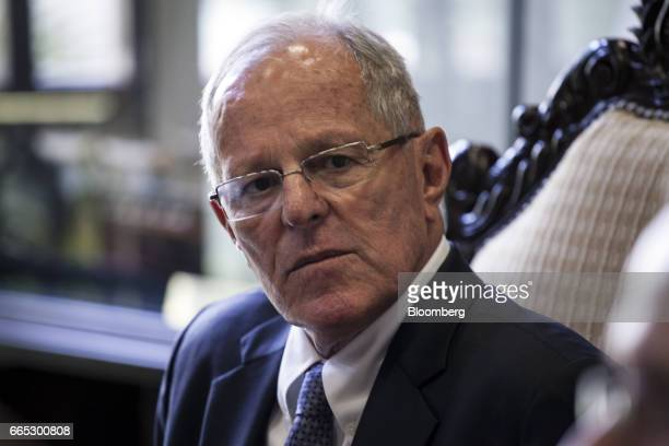Pedro Pablo Kuczynski Peru's president listens during an interview at the Presidential Palace in Lima Peru on Wednesday April 5 2017 As Peru clears...