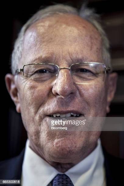 Pedro Pablo Kuczynski Peru's president stands for a photograph following an interview at the Presidential Palace in Lima Peru on Wednesday April 5...