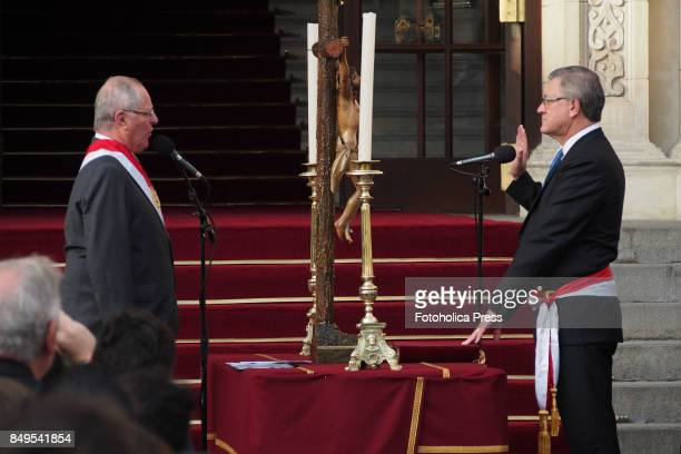 Pedro Pablo Kuczynski president of Peru swears in Alfonso Grados as Minister of Labor and Employment Promotion The entire cabinet had been dismissed...