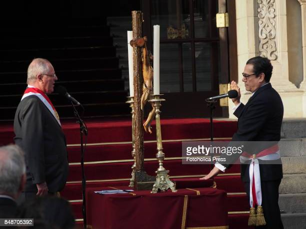 Pedro Pablo Kuczynski president of Peru swears in Enrique Mendoza as new Minister of JusticeThe entire cabinet had been dismissed last Friday after...