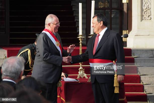 Pedro Pablo Kuczynski president of Peru swears in Jorge Nieto as Minister of DefenseThe entire cabinet had been dismissed last Friday after...