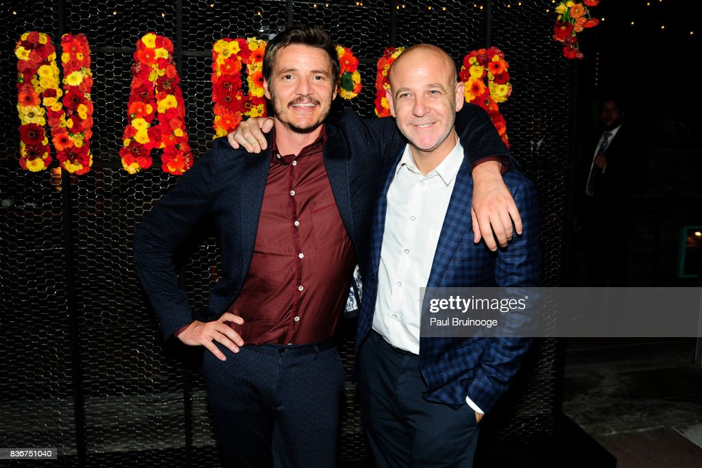 Pedro Pascal and Peter Friedlander attend 'Narcos' Season 3 New York Screening - After Party at Stage 48 on August 21, 2017 in New York City.