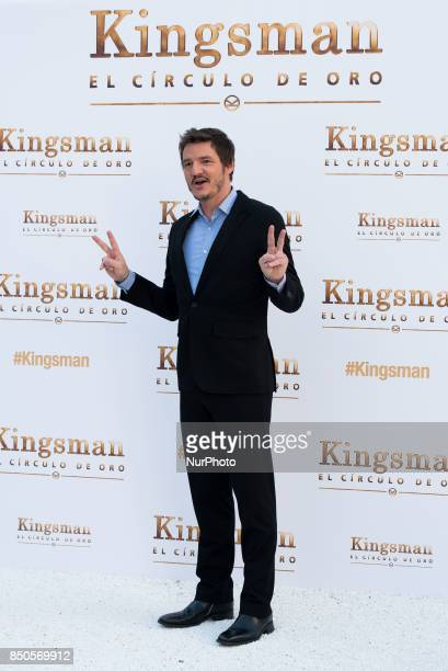 Pedro Pascal assist the 'Kingsman The golden circle' movie photocall at 'Melia Palacio de los Duques' Hotel in Madrid on September 20 2017