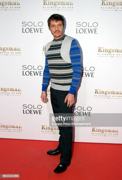 Pedro Pascal attends the 'Kingsman El Circulo De Oro' premiere at Callao cinema on September 19 2017 in Madrid Spain
