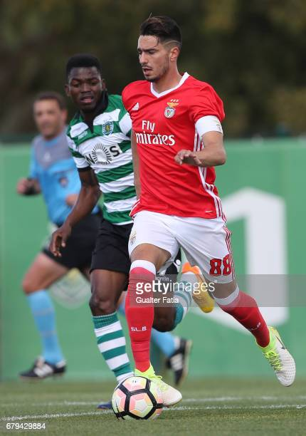 Pedro Rodrigues of SL Benfica B in action during the Segunda Liga match between Sporting CP B and SL Benfica B at CGD Stadium Aurelio Pereira on May...
