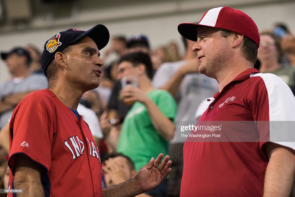 Pedro Rodriguez left and Ian Washburn attended the Nationals vs Indians game at Progressive Field in Cleveland on July 26 Washburn was in town...