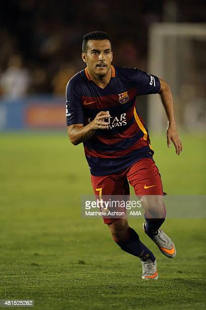 Pedro Rodriguez of FC Barcelona during the International Champions Cup 2015 match between FC Barcelona and Los Angeles Galaxy at Rose Bowl on July 21...