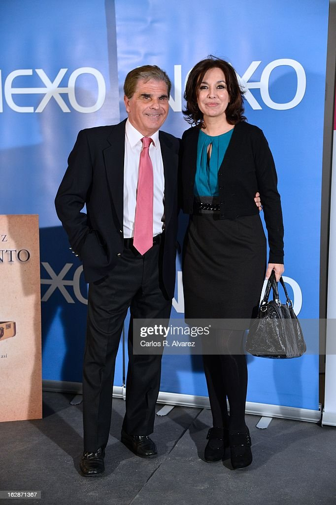 Pedro Ruiz and Isabel Gemio attend the presentation of 'Testamento' new book by Pedro Ruiz at the Club the Tiro on February 28, 2013 in Madrid, Spain.
