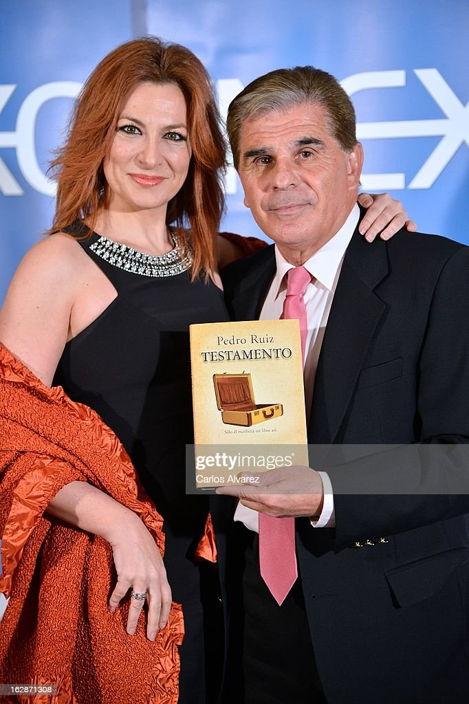 Pedro Ruiz and Pilar Jurado attend the presentation of 'Testamento' new book by Pedro Ruiz at the Club the Tiro on February 28, 2013 in Madrid, Spain.