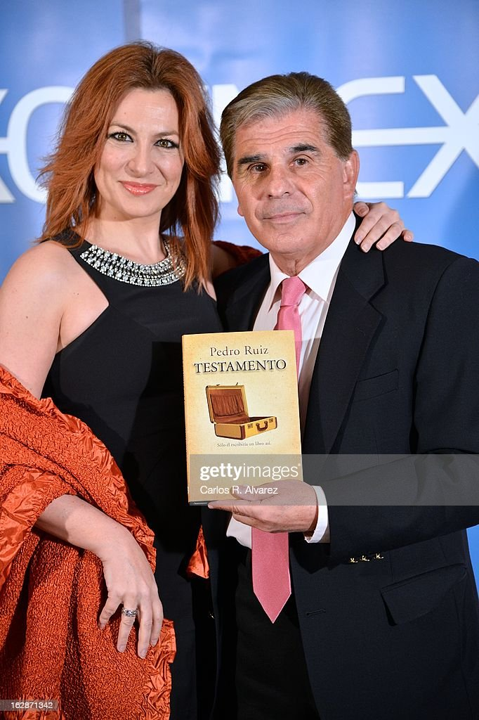 Pedro Ruiz and Pilar Jurado attend the presentation of 'Testamento' new book by Pedro Ruiz at the Club the Tiro on February 28, 2013 in Madrid, Spain.