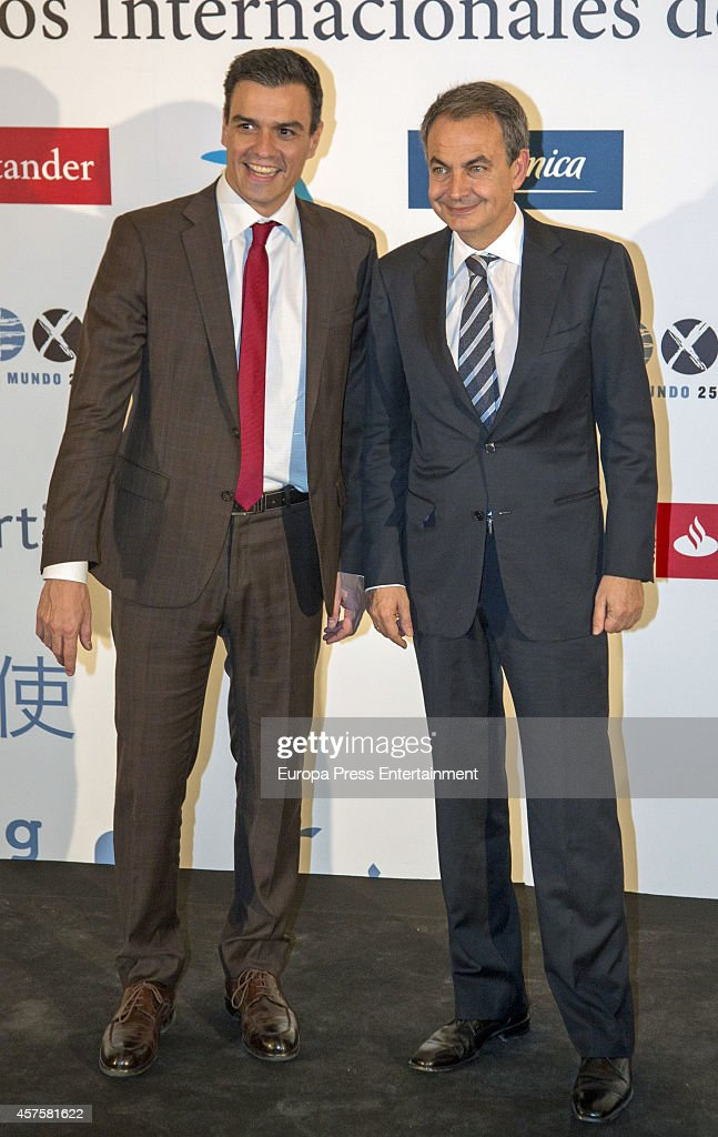 Pedro sanchez l and jose luis rodriguez zapatero attend - Jose luis sanchez rodriguez ...