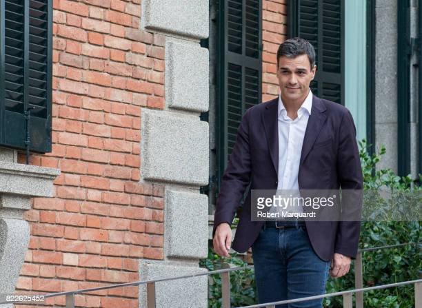 Pedro Sanchez attends the 25th anniversary of the Barcelona Olympics at the Palacete Albeniz on July 25 2017 in Barcelona Spain