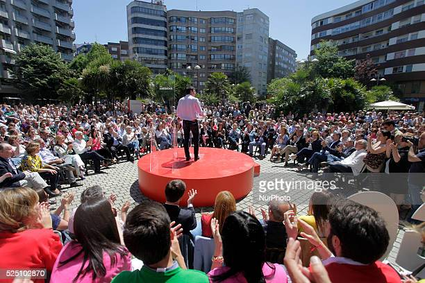 Pedro S��nchez PSOE during an act in Vigo northwestern Spain on May 22 2015