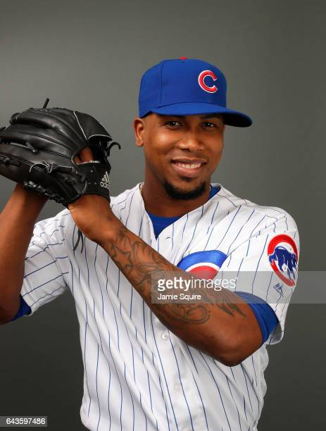 Pedro Strop of the Chicago Cubs poses during Chicago Cubs Photo Day on February 21 2017 in Mesa Arizona