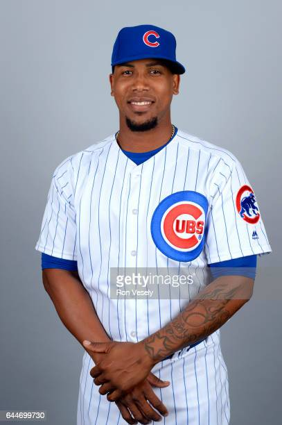 Pedro Strop of the Chicago Cubs poses during Photo Day on Tuesday February 21 2017 at Sloan Park in Mesa Arizona