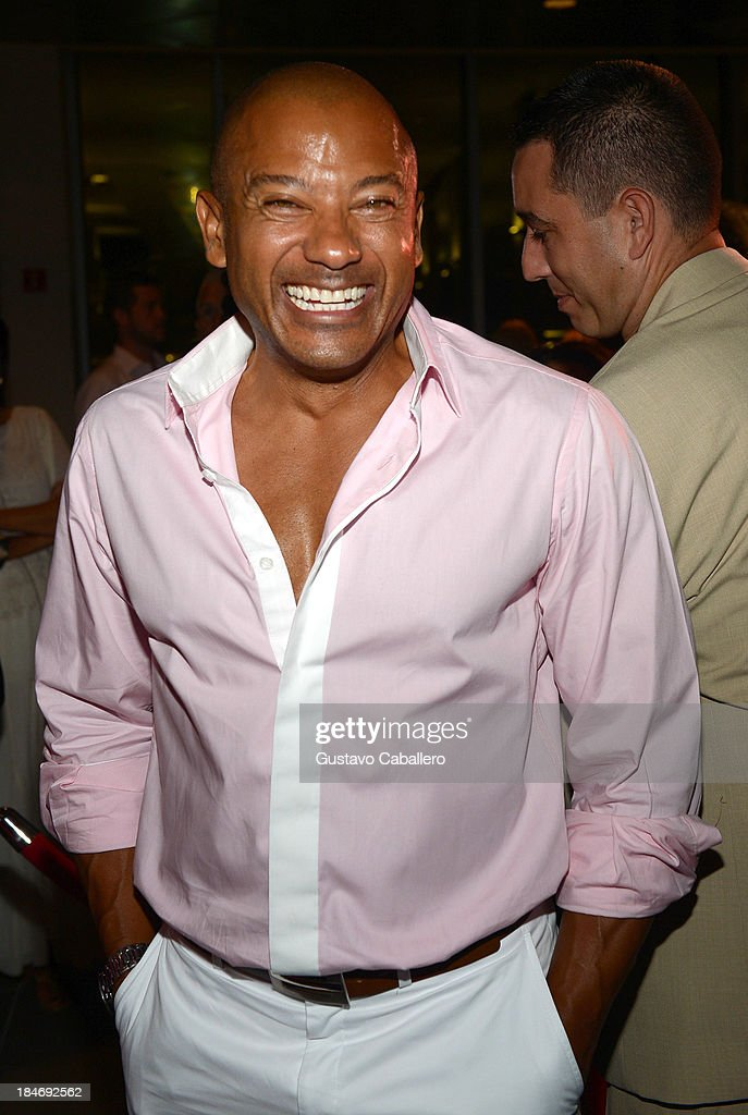 Pedro Telemaco arrives for the premiere of 'The Snitch Cartel'at Regal South Beach on October 14, 2013 in Miami, Florida.