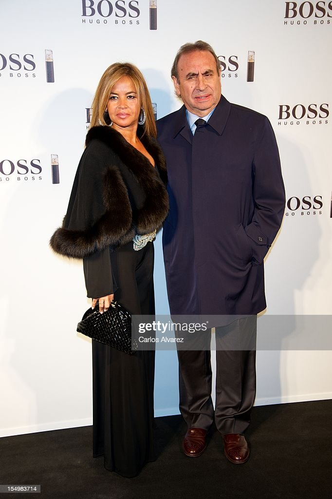 Pedro Trapote and Begona Garcia attend the new 'Boss Nuit Pour Femme' Hugo Boss parfum presentation at the Neptuno Palace on October 29, 2012 in Madrid, Spain.