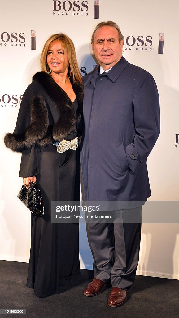 Pedro Trapote and Begona Garcia Vaquero attend the launch of 'Boss Nuit Pour Femme' fragrance on October 29, 2012 in Madrid, Spain.