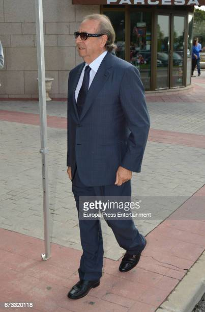 Pedro Trapote attends the funeral chapel for the bullfighter Sebastian Palomo Linares on April 25 2017 in Madrid Spain