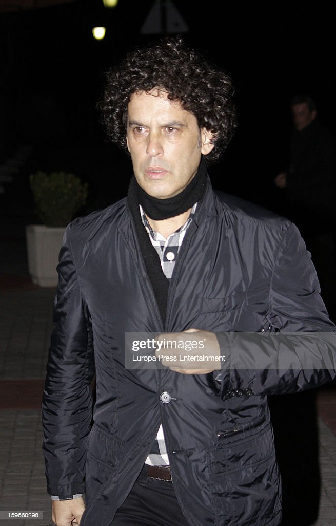 Pedro Zerolo attends the funeral chapel for actor Fernando Guillen at Tres Cantos Chapel on January 17, 2013 in Madrid, Spain.