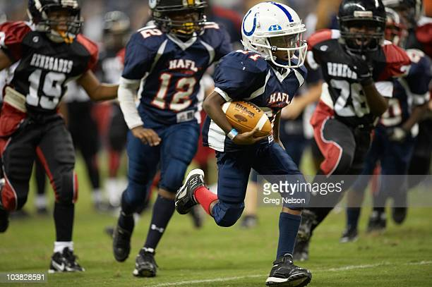 HumbleAtascocita Football League vs Lake Houston Renegades during youth exhibition game at halftime of Houston Texans vs Dallas Cowboys preseason...