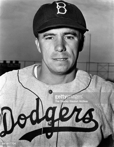 Pee Wee Reese shortstop and third baseman of the Brooklyn Dodgers poses for a portrait circa 1940