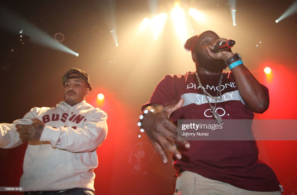 Peedi Crakk and Philly Freeway perform at Gramercy Theatre on December 19, 2012 in New York City.