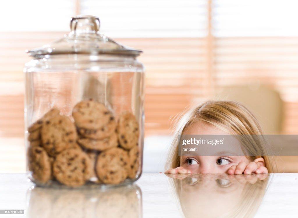 Peeking Over the Counter : Stock Photo