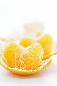 Peeled orange, close-up