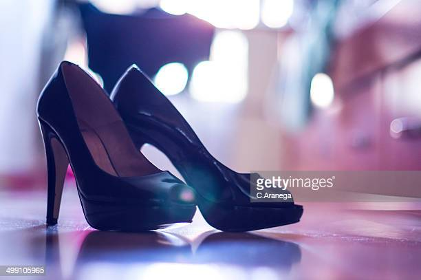Peep-toe shoes and bokeh