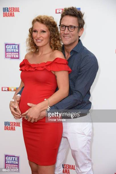 Peer Kusmagk and his pregnant girlfriend Janni Hoenscheid attend the 25th anniversary party of the TV show 'GZSZ' on May 17 2017 in Berlin Germany