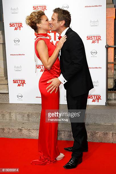 Peer Kusmagk and Janni Hoenscheid attend the 'Sister Act The Musical' premiere at Stage Theater on October 16 2016 in Berlin Germany