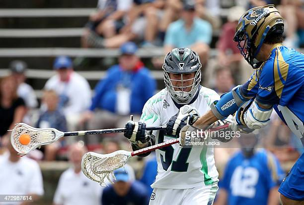 Peet Poillon of the Chesapeake Bayhawks against the Charlotte Hounds during their game at American Legion Memorial Stadium on May 10 2015 in...