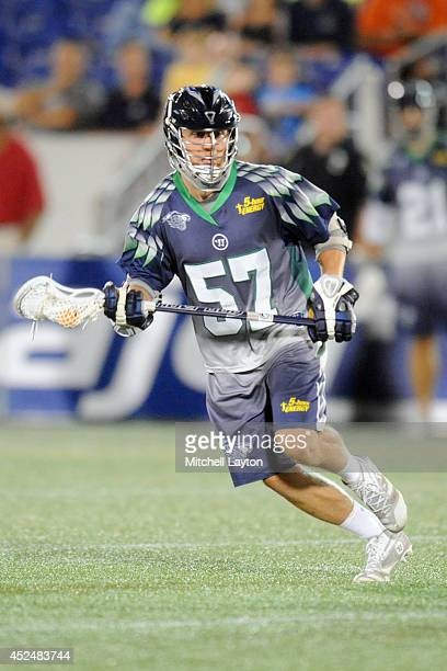 Peet Poillon of the Chesapeake Bayhawks runs with the ball during a Major League Lacrosse game against the Rochester Rattlers on July 17 2014 at...