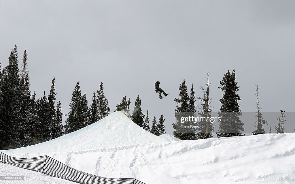 Peetu Piiroinen of Finland competes in the FIS Snowboard Slope Style World Cup finals at the US Grand Prix on January 11, 2013 in Copper Mountain, Colorado.