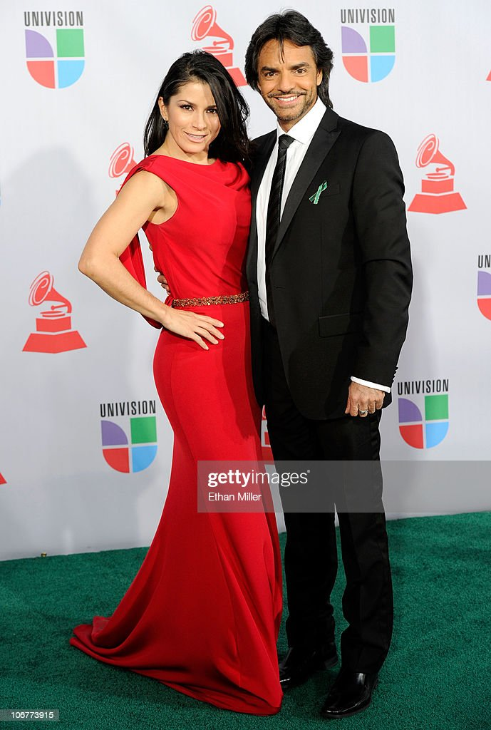 Peformer Alessandra Rosaldo and host Eugenio Derbez arrives at the 11th annual Latin GRAMMY Awards at the Mandalay Bay Resort & Casino on November 11, 2010 in Las Vegas, Nevada.