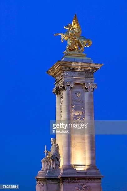 Pegasus statue above Pont Alexandre III bridge, Paris