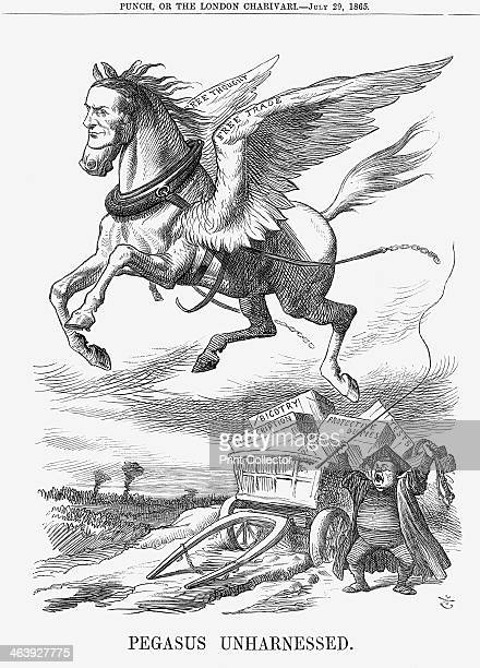 'Pegasus Unharnessed' 1865 Mr Gladstone the Pegasus of Free Thought and Free Trade was in July 1865 defeated at the Oxford University Elections In...