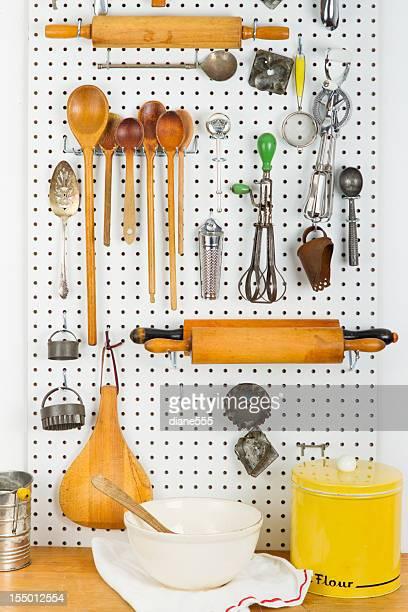 Panneau vertical perforé plein de Gadgets de cuisine