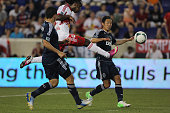 Pegguy Luyindula New York Red Bulls shoots during the New York Red Bulls V Vancouver Whitecaps FC Major League Soccer regular season match at Red...