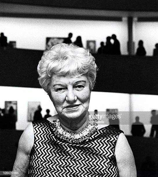 Peggy Guggenheim during Opening of the Guggenheim Museum at Guggenheim Museum in New York City New York United States