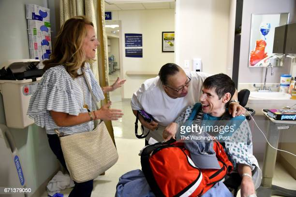 Peggy Johnson who cared for Alex Scott more than 20 years ago and hasn't seen him since surprises the 45yearold who has Cerebral Palsy at Inova...