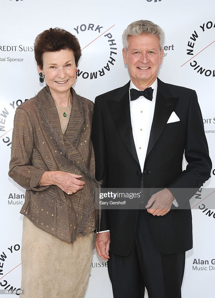 Peggy Lang (L) and Christian Lang attend New York Philharmonic 172nd Season Opening Night Gala at Avery Fisher Hall, Lincoln Center on September 25, 2013 in New York City.