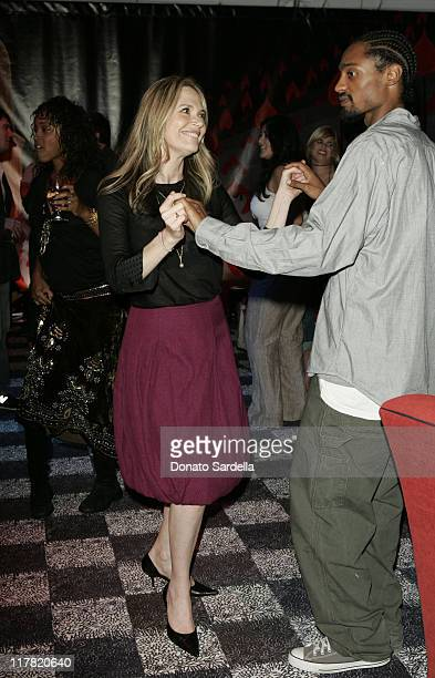 Peggy Lipton and guest during Disney's Alice in Wonderland Mad Tea Party at Private Residence in Los Angeles California United States