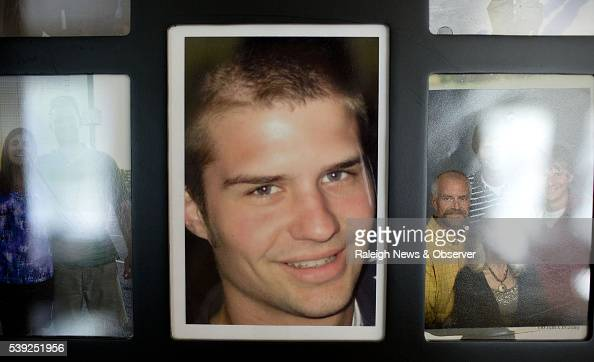 Peggy Martin the mother of Riley Martin an Appalachian State University grad who died in 2012 of a drug overdose looks through memorabilia and photos...
