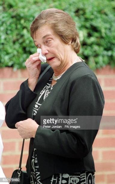 Peggy Moore Mother of Soho bomb blast victim Nicholas Moore at her son's funeral held at St Johns the Baptist church FelixstoweMr Moore was caught in...