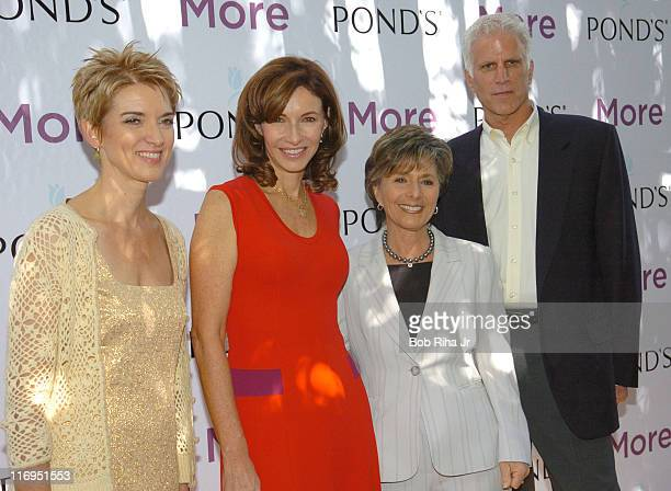 Peggy Northrop EditorinChief of More Magazine Mary Steenburgen Senator Barbara Boxer and Ted Danson