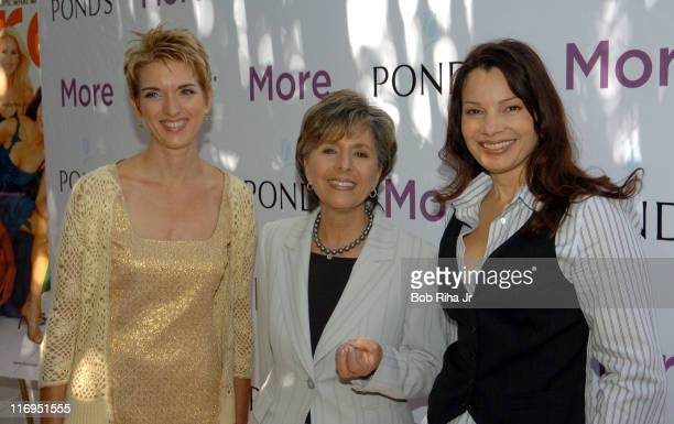 Peggy Northrop EditorinChief of More Magazine Senator Barbara Boxer and Fran Drescher