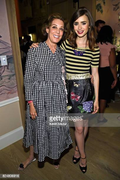 Peggy Siegal and actor Lilly Collins attend The Last Tycoon New York Special Screening VIP Reception at the Whitby Hotel on July 25 2017 in New York...