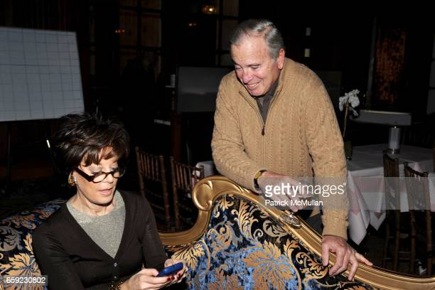 Peggy Siegal and Ken Auletta attend SUPER BOWL Party at The Oak Room on February 1 2009 in New York City